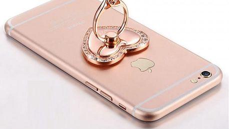 Luxusní prsten na telefon ve tvaru srdce