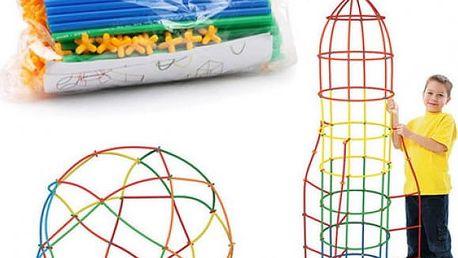 Dětská stavebnice Colorful Straw 100 dílků