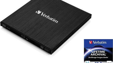 Verbatim Slimline, externí, USB 3.0, černá - 43890