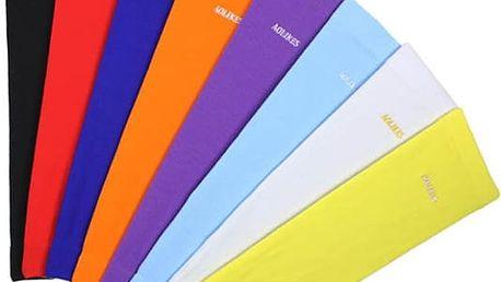 Elastické sportovní návleky na ruce v pestrých barvách