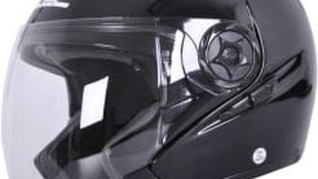 W-TEC NK-617 černý lesk vel. XL Otevřená helma