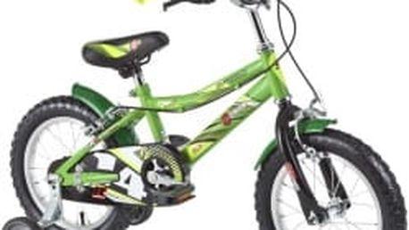 """DHS Speed 1403 14"""" - model 2016 zelené dětské kolo"""