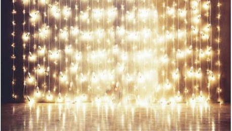 Ateliérové fotopozadí 0,9 x 1,5 m - Světelné řetězy