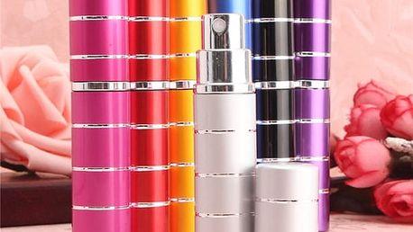 Mini flakón na parfém v 5 barvách