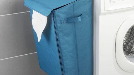 Tyrkysový závěsný koš na prádlo Wenko Turbo-Loc