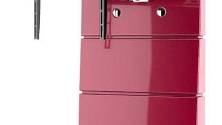 Meliconi 488312 GHOST DESIGN ROTATION Sestava pro TV a komponenty k instalaci na zeď, červená + Zdarma Meliconi C-35 P Čisticí sprej 35 ml + utěrka z mikrovlákna + štěteček, k čištění (v ceně 139,-)