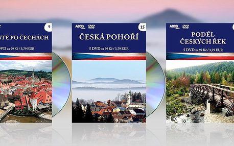 Sady 5 cestopisných filmů o hradech, zámcích i krásách Česka na DVD