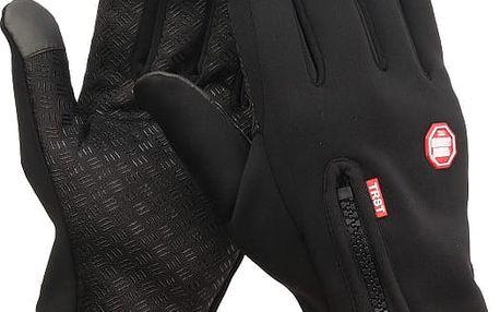 Voděodolné rukavice na zip s dotykovou funkcí