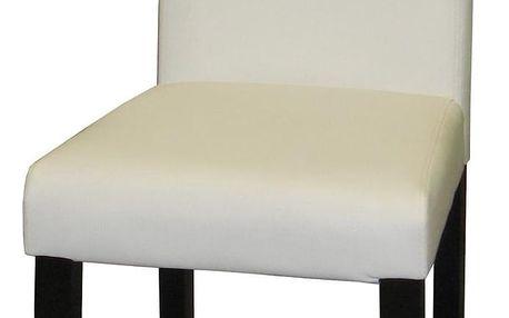 Židle PRIMA bílá/hnědá 3036