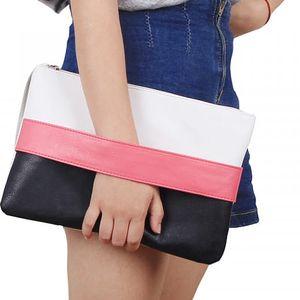Pruhovaná dámská kabelka do ruky