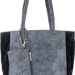 Co & Coo Fashion Dámská kabelka semišová s ekokůže