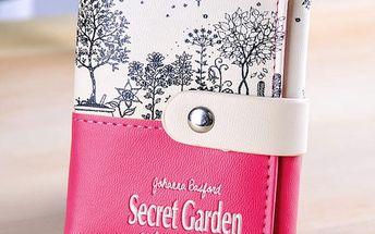 Dámská peněženka s motivy tajné zahrady