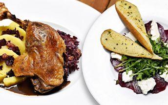 Degustační menu v restauraci u Vltavy pro dva