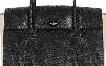 Černá kabelka se vzorem hadí kůže Paul's Boutique Adele