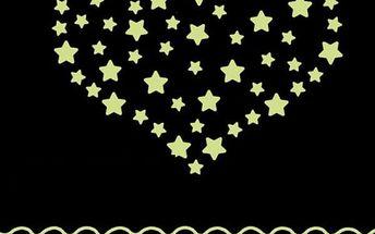 Svítící 3D hvězdy - 100 kusů