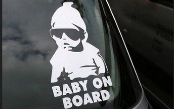 Originální samolepka na auto - Baby on board - dodání do 2 dnů