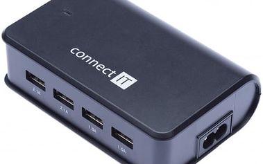 CONNECT IT 4x USB nabíječka 6,2 A (2x 2,1 A + 2x 1 A)