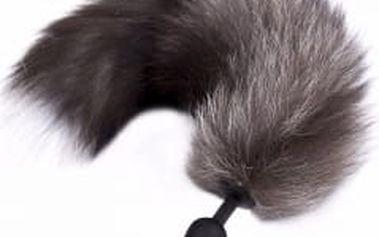 silikonový anální kolík s ocasem artické lišky