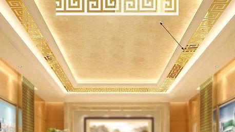 Zrcadlové samolepky na zeď ve čtvercovém tvaru - 10 kusů - 4,8 x 4,8 cm