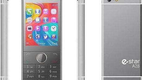 Mobilní telefon eStar A28 Dual SIM stříbrný Software F-Secure SAFE 6 měsíců pro 3 zařízení (zdarma)