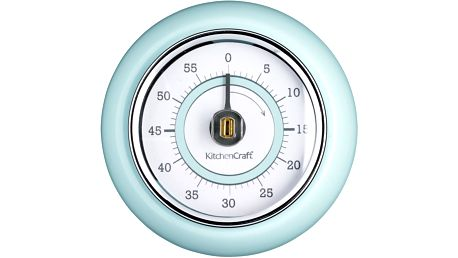Kuchyňská magnetická minutka Kitchen Craft Living Nostalgia, modrá