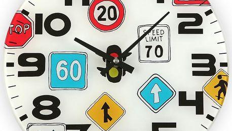 Nástěnné hodiny Versa Traffic, 30 cm