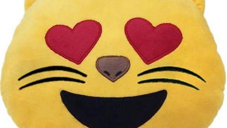Polštářek v podobě emoji kočičky