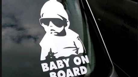 Originální samolepka na auto - Baby on board