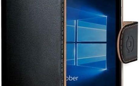 CELLY Wally pouzdro typu kniha Microsoft Lumia 950 XL PU kůže černé