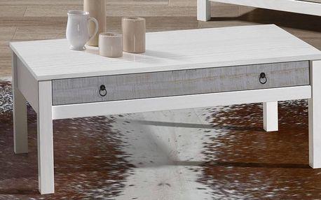 Bílý konferenční stolek z borovicového dřeva SOB Irelia