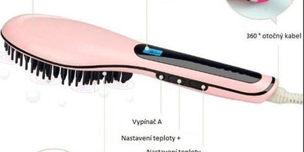 Ionizační kartáč na žehlení vlasů s LCD displejem, doručení zdarma4