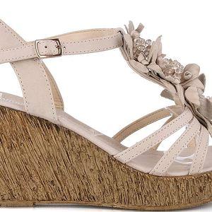 Sandálky na klínku MD7095-5BE 40