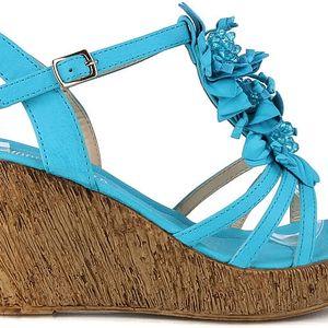 Sandálky na klínku MD7095-2BL 41