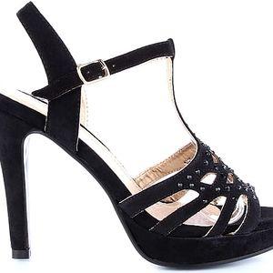 Černé sandálky MD7091-1B 37