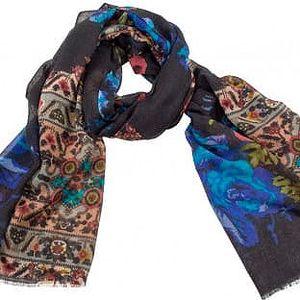 Vlněný šátek Shirin Sehan Maxima Sea