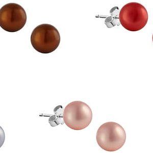 Sada 7 náušnic z říčních perel GemSeller