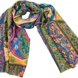 Vlněný šátek Shirin Sehan Magdalena Olive