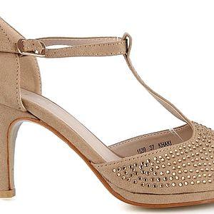 Sandálky na podpatku 1539KH 38