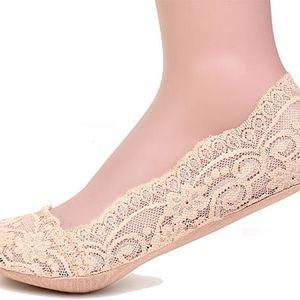 Neviditelné krajkové ponožky 2 páry - 5 barev