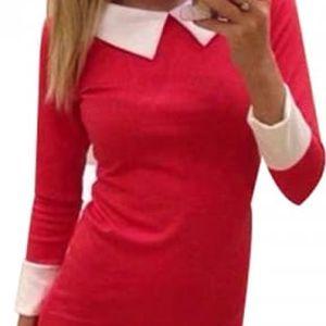 Dámské šaty v ležérním stylu s límečkem