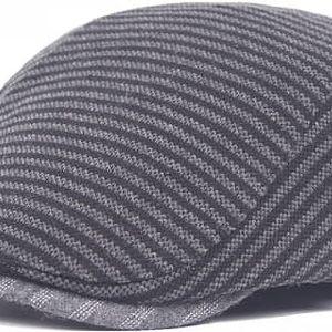 Proužkovaná golfová čepice pro muže