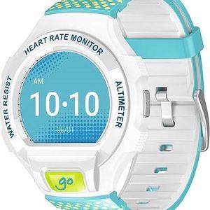 Chytré hodinky ALCATEL ONETOUCH GO WATCH SM03, White/Green&Blue (SM03-2CALXE7)