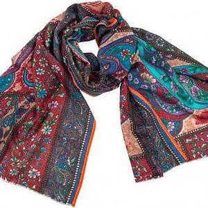 Vlněný šátek Shirin Sehan Magdalena Chianti