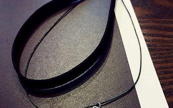 Dámský náhrdelník v punk stylu - černý