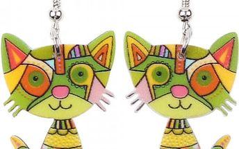 Dámské náušnice v provedení roztomilých koček - 7 barev