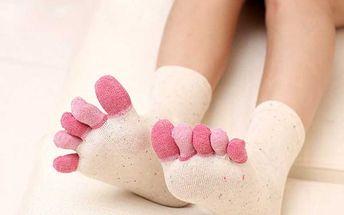 Prstové ponožky - 6 barev