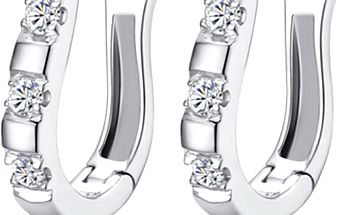 Elegantní dámské náušnice zdobené jemnými krystalky