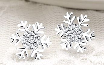 Náušnice pro ženy s motivem sněhové vločky