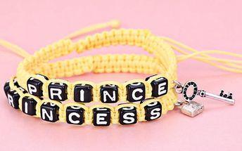 Sada náramků pro zamilované - princ a princezna