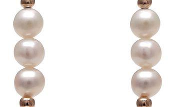 Náušnice s bílou perlou GemSeller Syriaca - doprava zdarma!